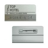 Jmenovka hliníková JPHV2P, špendlík, stříbrná