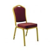 Banketní židle AMADEUS, zlatá/bordó