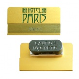 Jmenovka hliníková JPHV1M, magnet, zlatá
