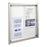 Vitrína nástěnná Media 504260, 6 x A4 magnet, elox