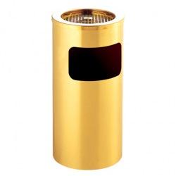 Stojanový koš s popelníkem GPX-12A-01, kulatý, zlatý