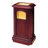 Stojanový koš s popelníkem GPX-26, zlatý/dřevo