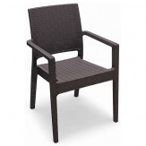 Ratanová židle Ibiza (Indiana) 605202 s područkou, barva hnědá
