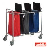 Vozík na sběr prádla Caddie Trisac 3