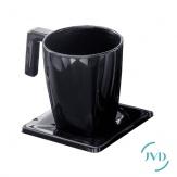 Šálek Maestro s talířkem, 200ml, černá