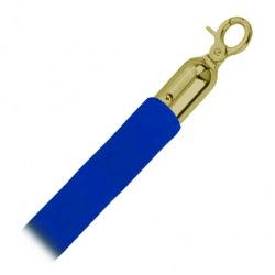 Lano Rope, semiš, modré/zlaté, 150 cm