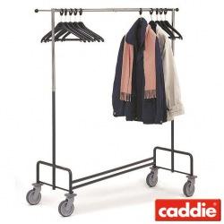 Vozík pro převoz šatstva Caddie Stender Z, chrom