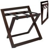 Kufrbox Compact Back Fabric, dřevěný, ořech, černé popruhy