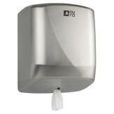 Zásobník papírových ručníků Aura v roli průměr 205 mm, matná nerez