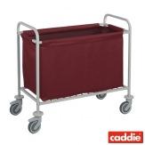 Vozík na sběr prádla Caddie Sac Hydro, vínová