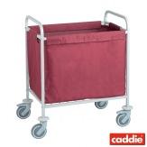 Vozík na sběr prádla Caddie Sac Hydro XS, vínová
