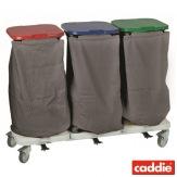 Vozík na sběr prádla Caddie Trisac Alu 3